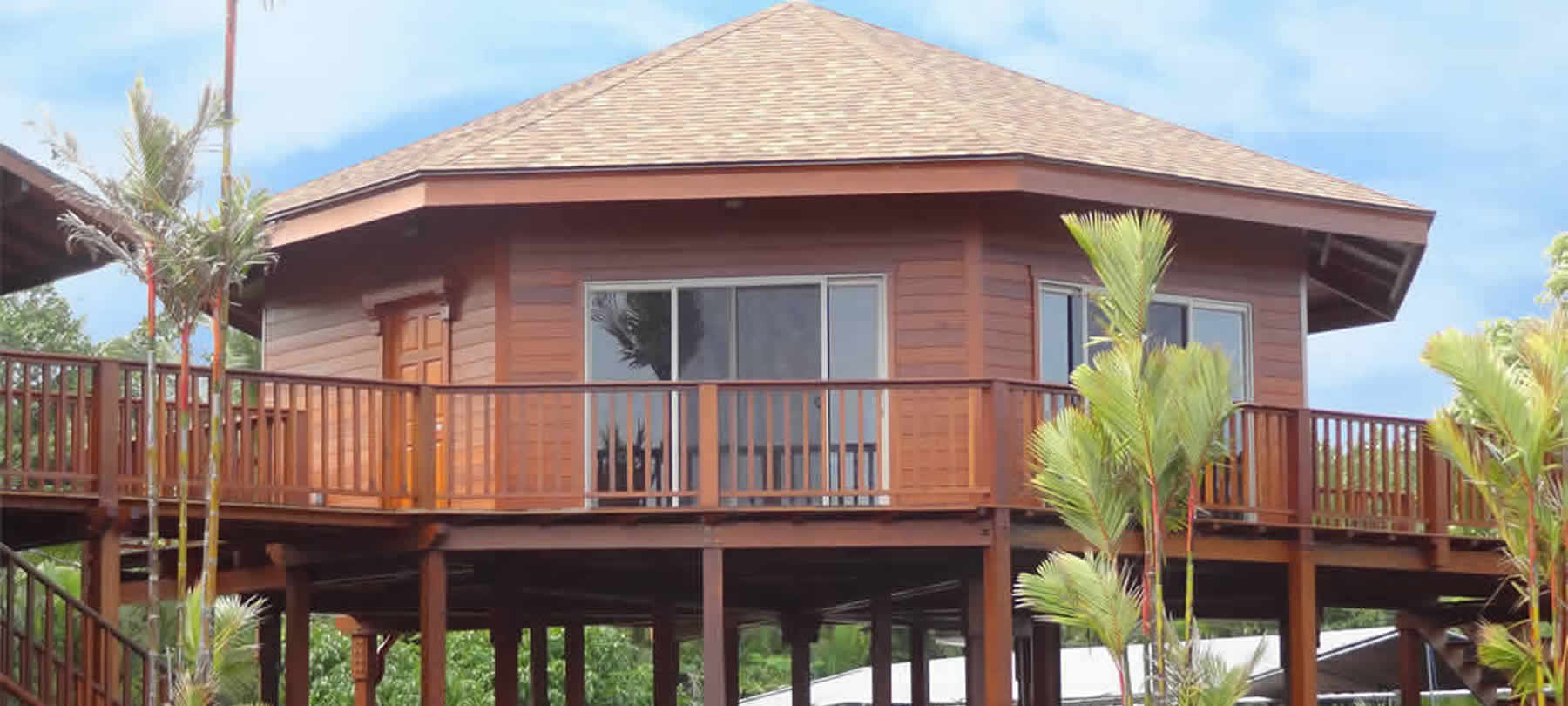 Why build a prefab tropical hardwood timber home teak bali for Bali style homes to build