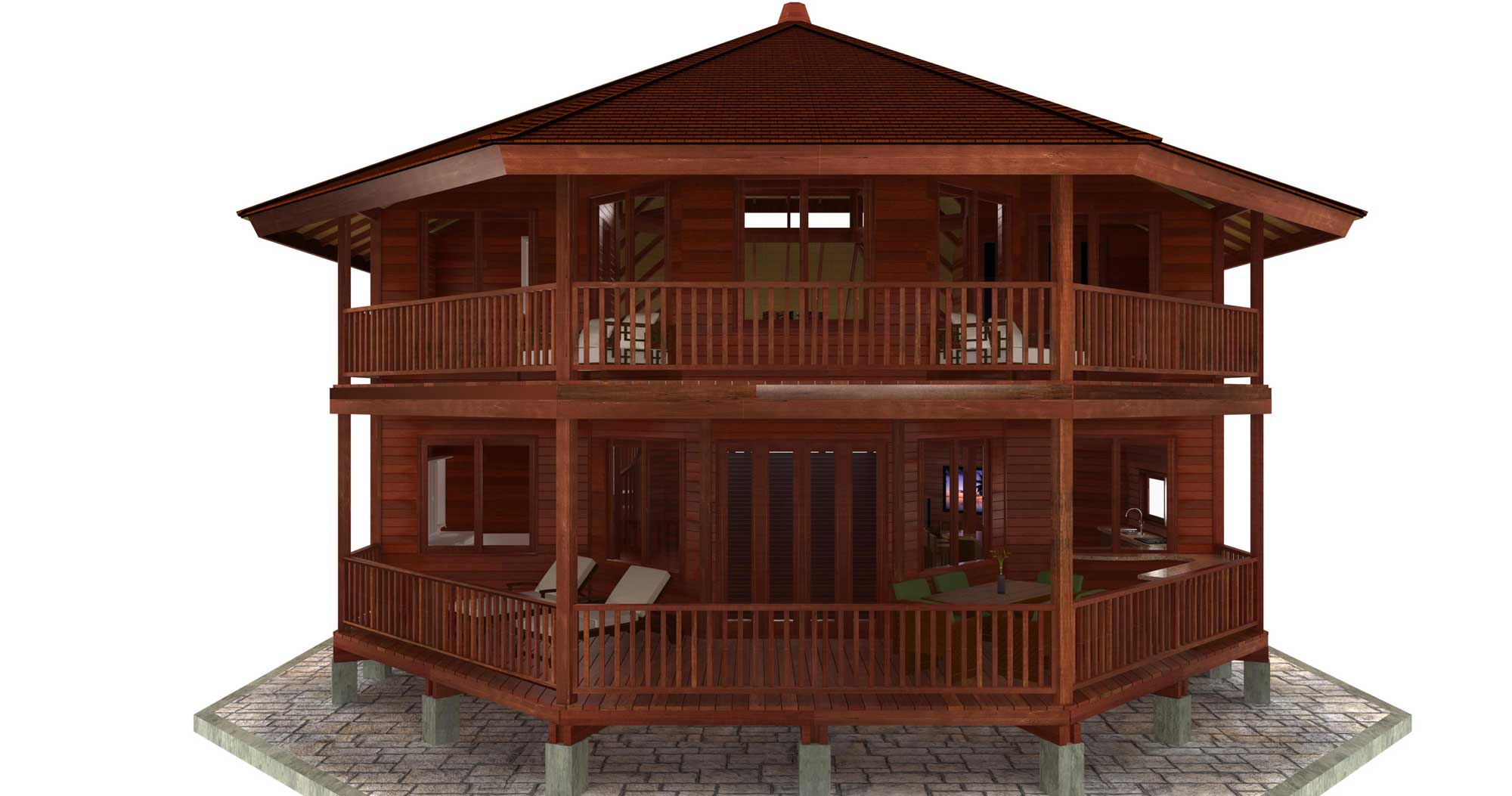 China cat design caribbean floor plans teak bali for Caribbean home plans