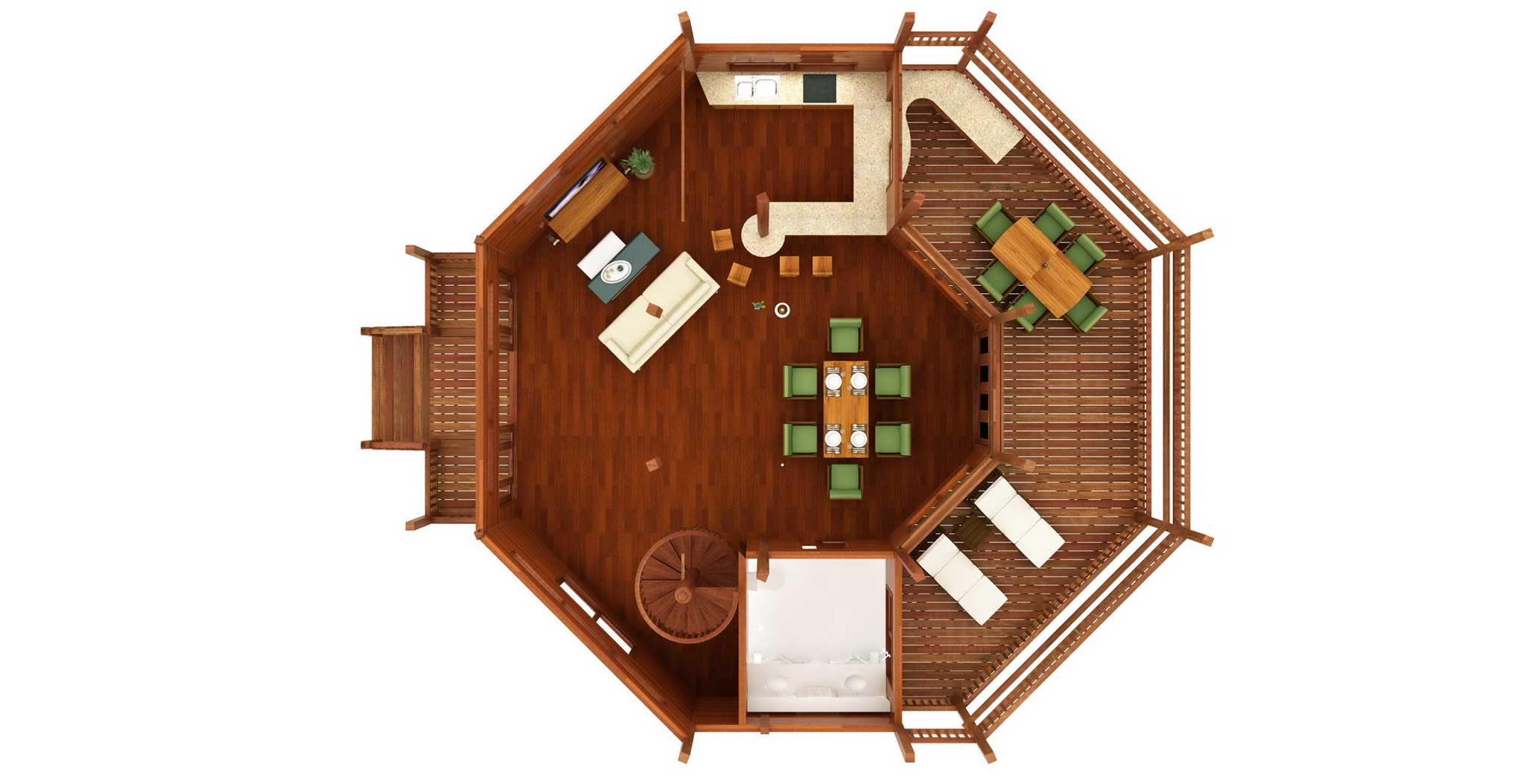 China cat design caribbean floor plans teak bali for Tropical house plans
