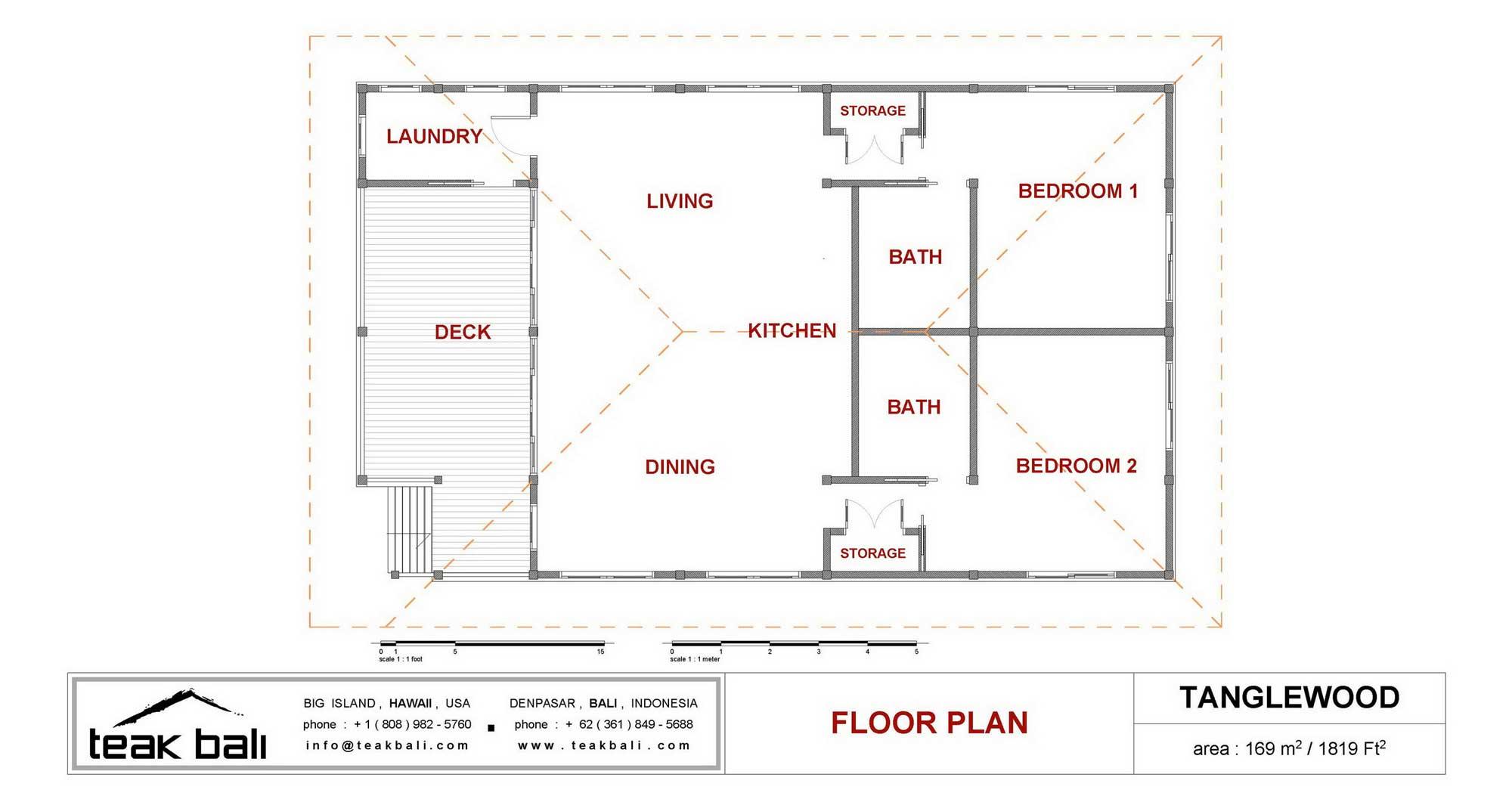 Tanglewood design oahu floor plans teak bali for Hawaiian floor plans