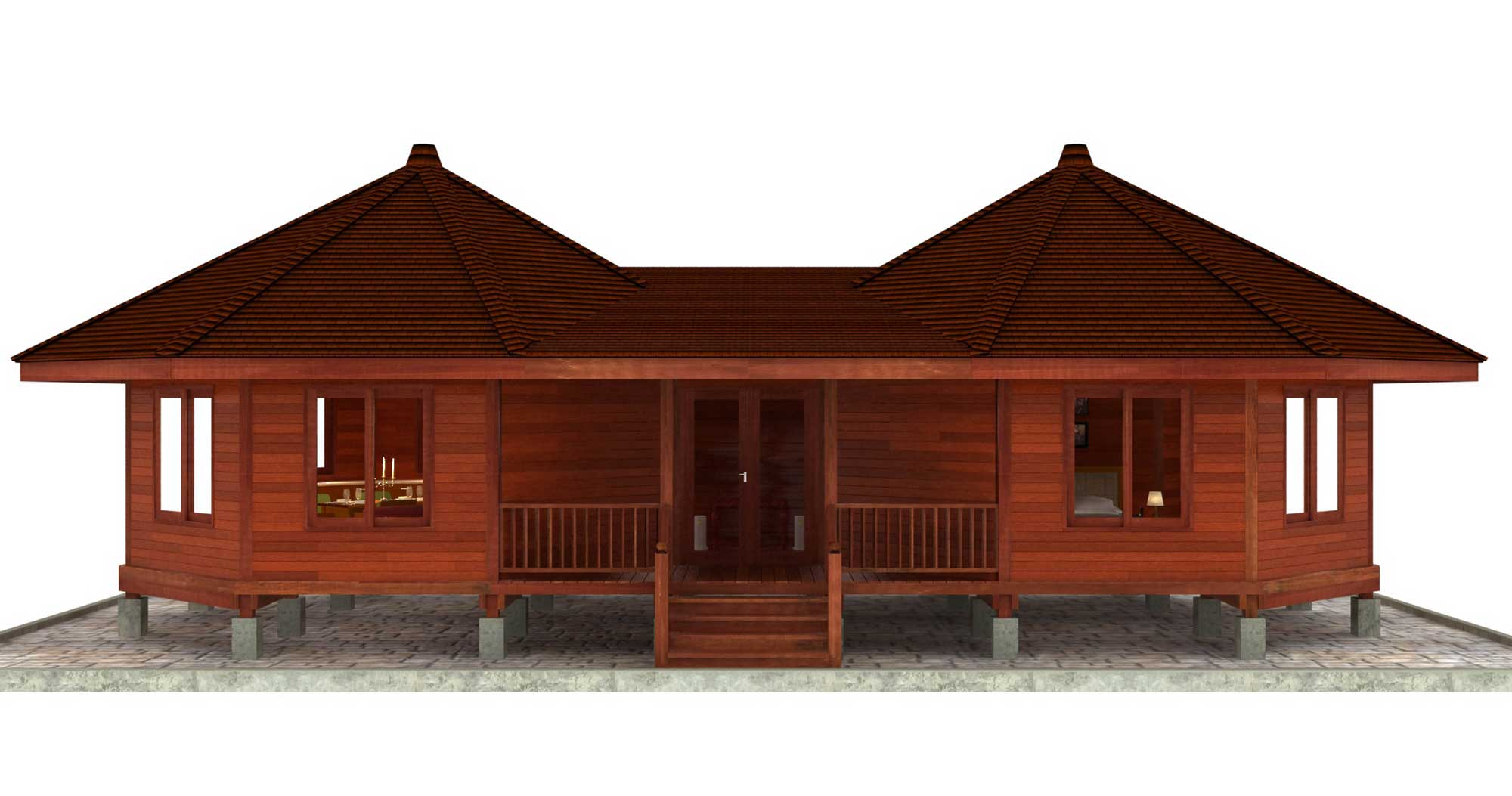 Hana hale design octagonal floor plans teak bali Home building plans