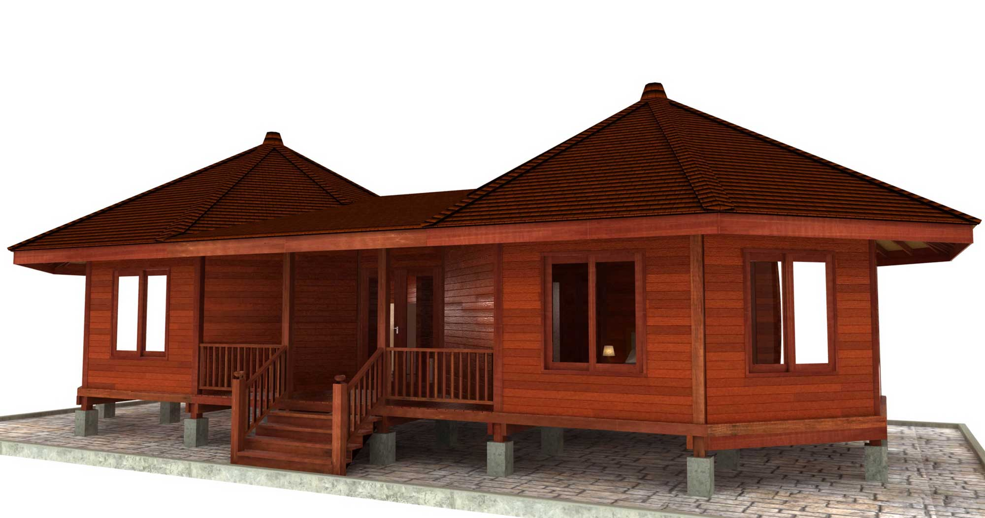 Hana hale design octagonal floor plans teak bali for Prefab homes designs