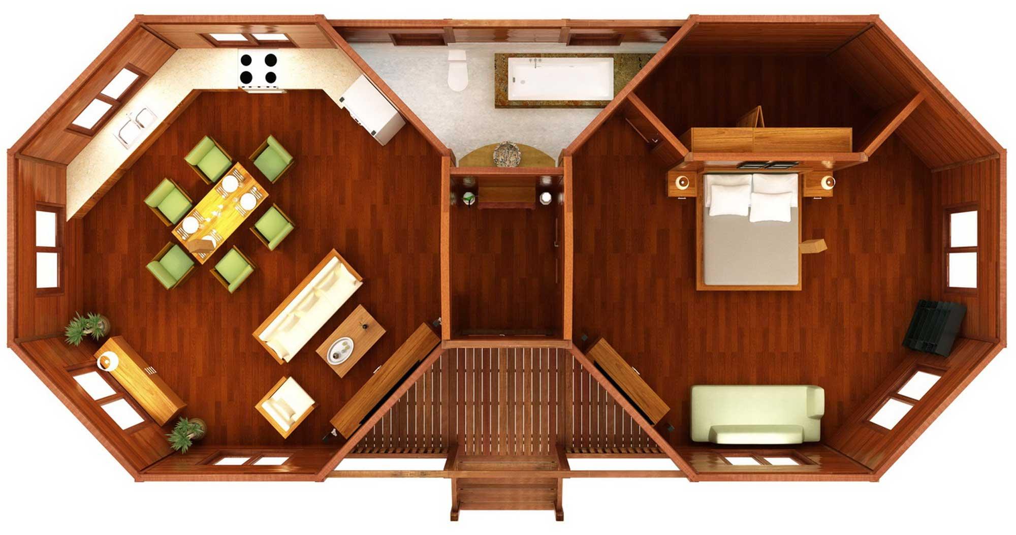 Octagonal Floor Plans