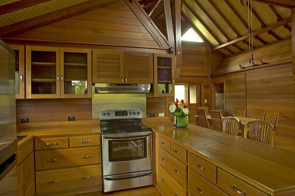 Quality Teak Wooden Kitchen Cabinets - Teak Bali